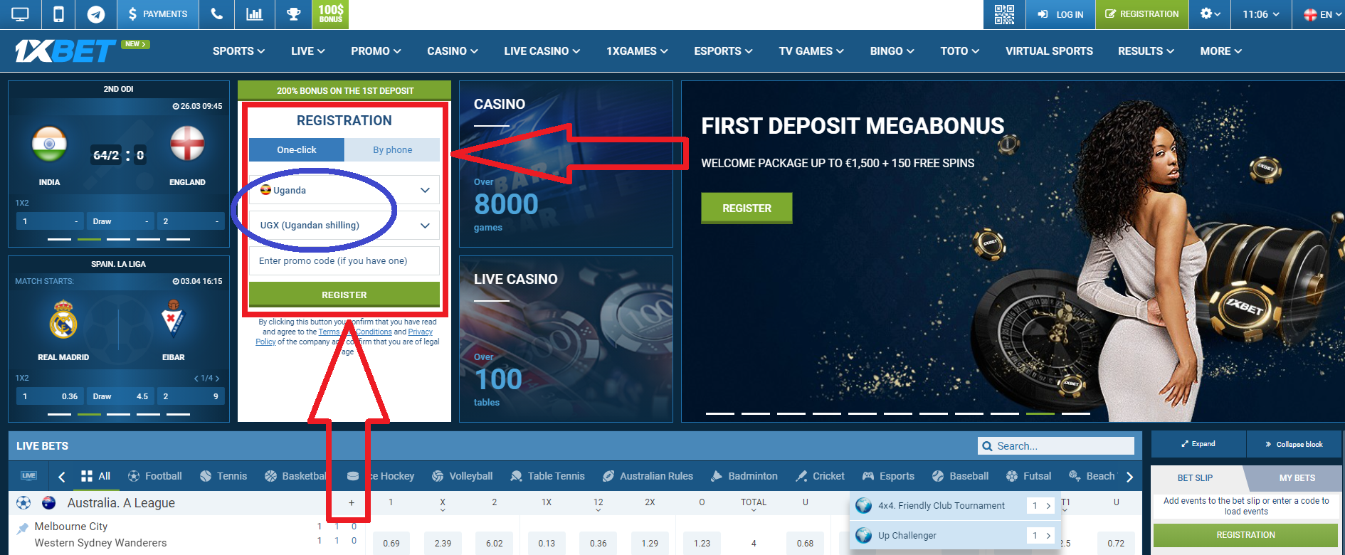 1xBet UG casino games and providers